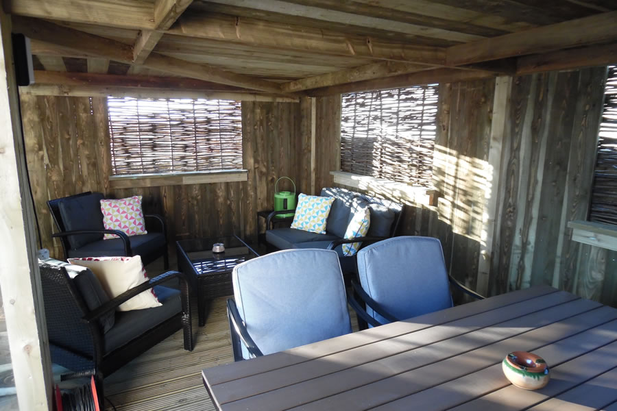 Cottage Shared Decking Area